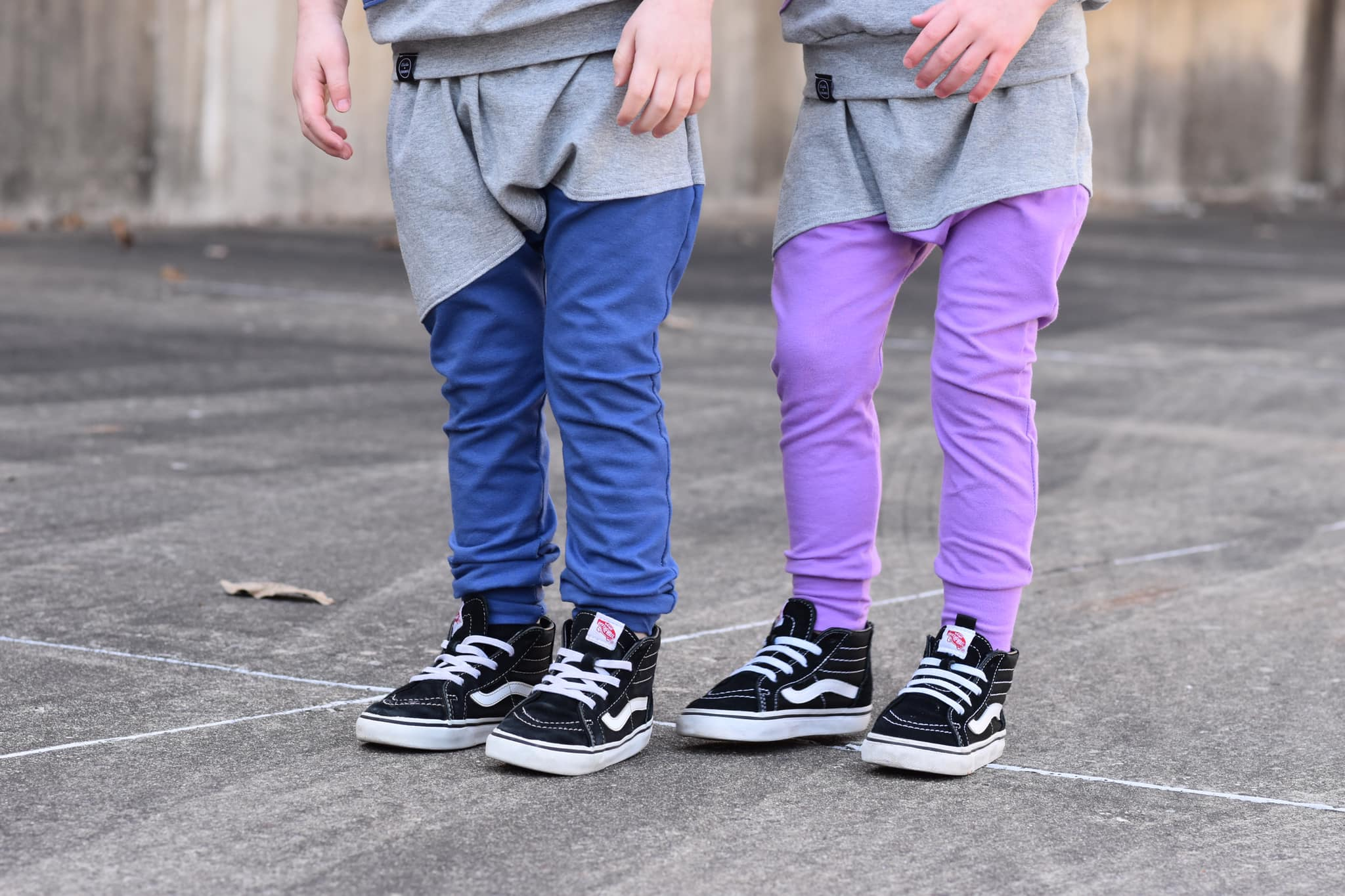 Blue Swoop Joggers