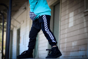 Checkered Stripe Harems