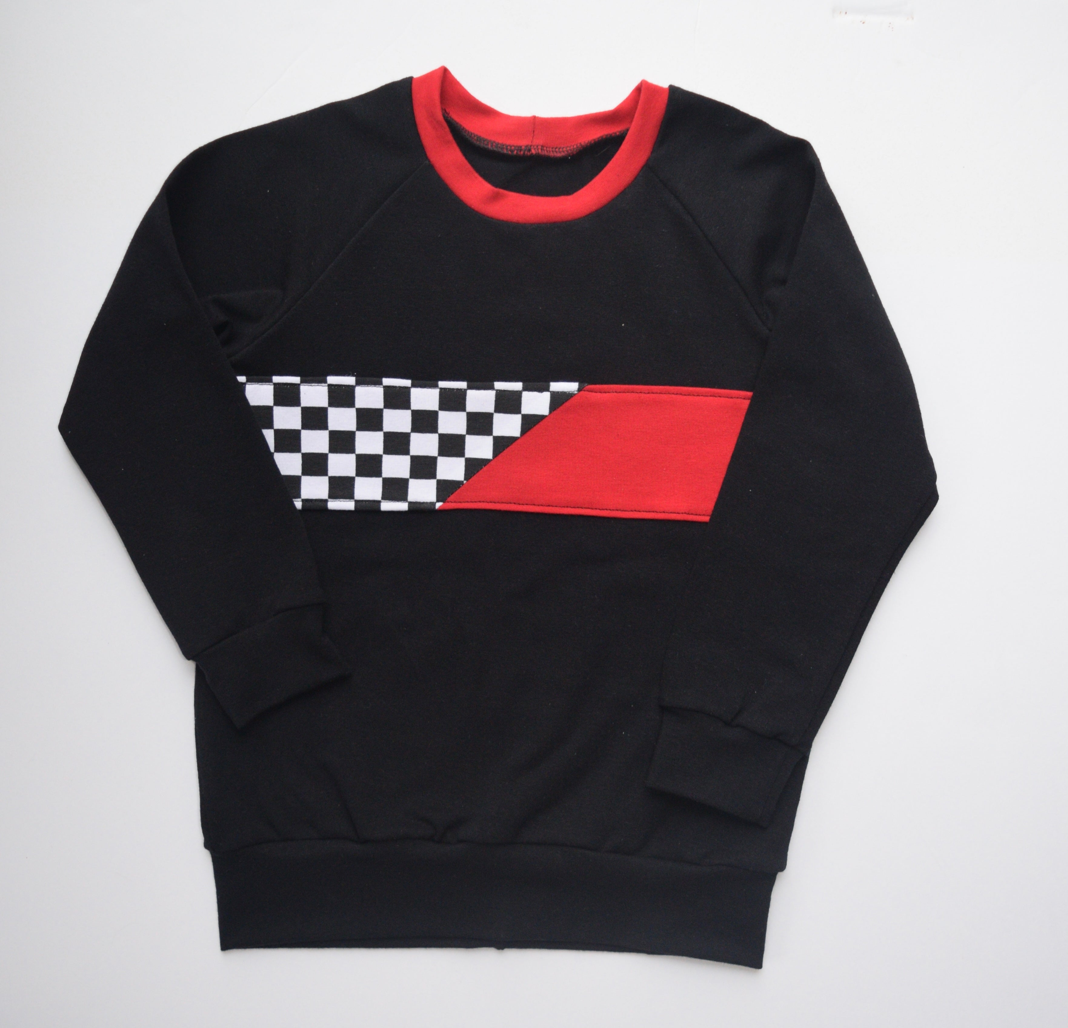 Red/Checkered Pullover