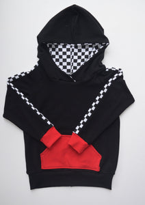 Checkered Stripe Hoodie