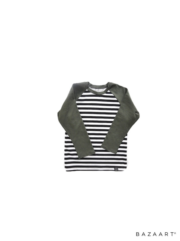 Olive and Monochrome T Shirt