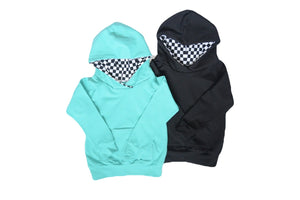 Checkered Accent Hoodie