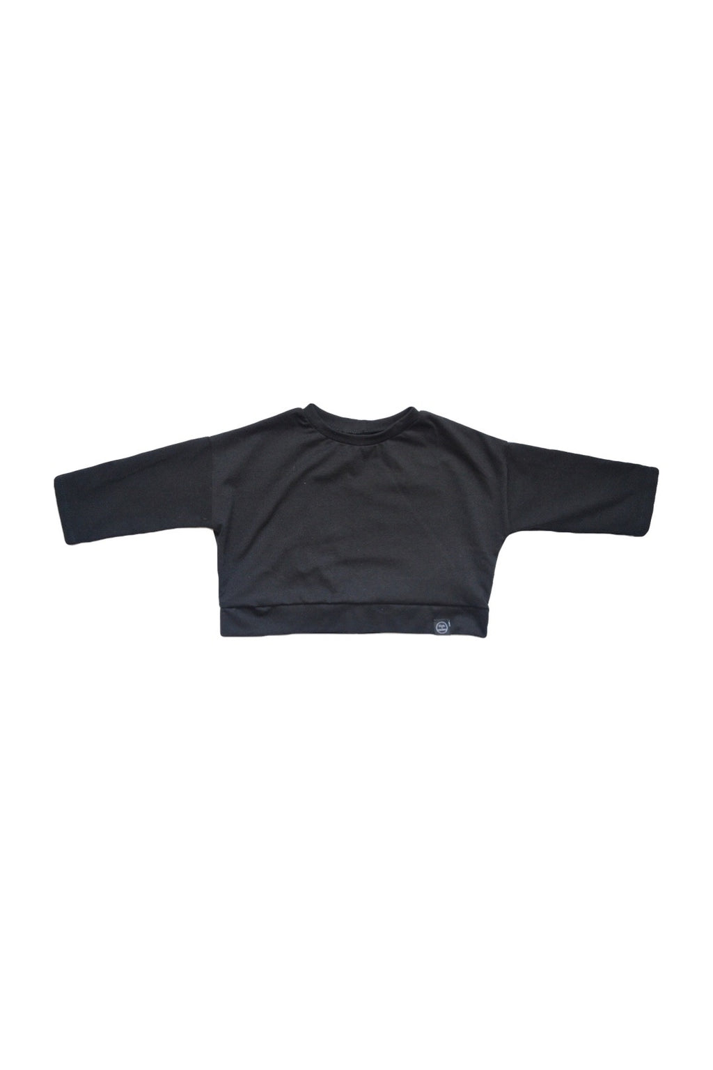 Black Midi Crop Sweatshirt