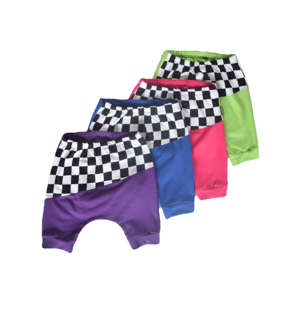 Checkered Harem Shorts