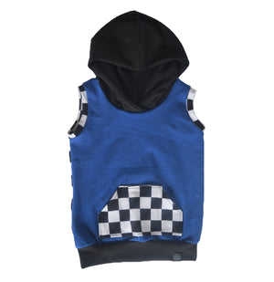 Checkered Hooded Tanks - 5 color options