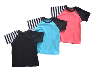 Color Block Raglan - Choose your color