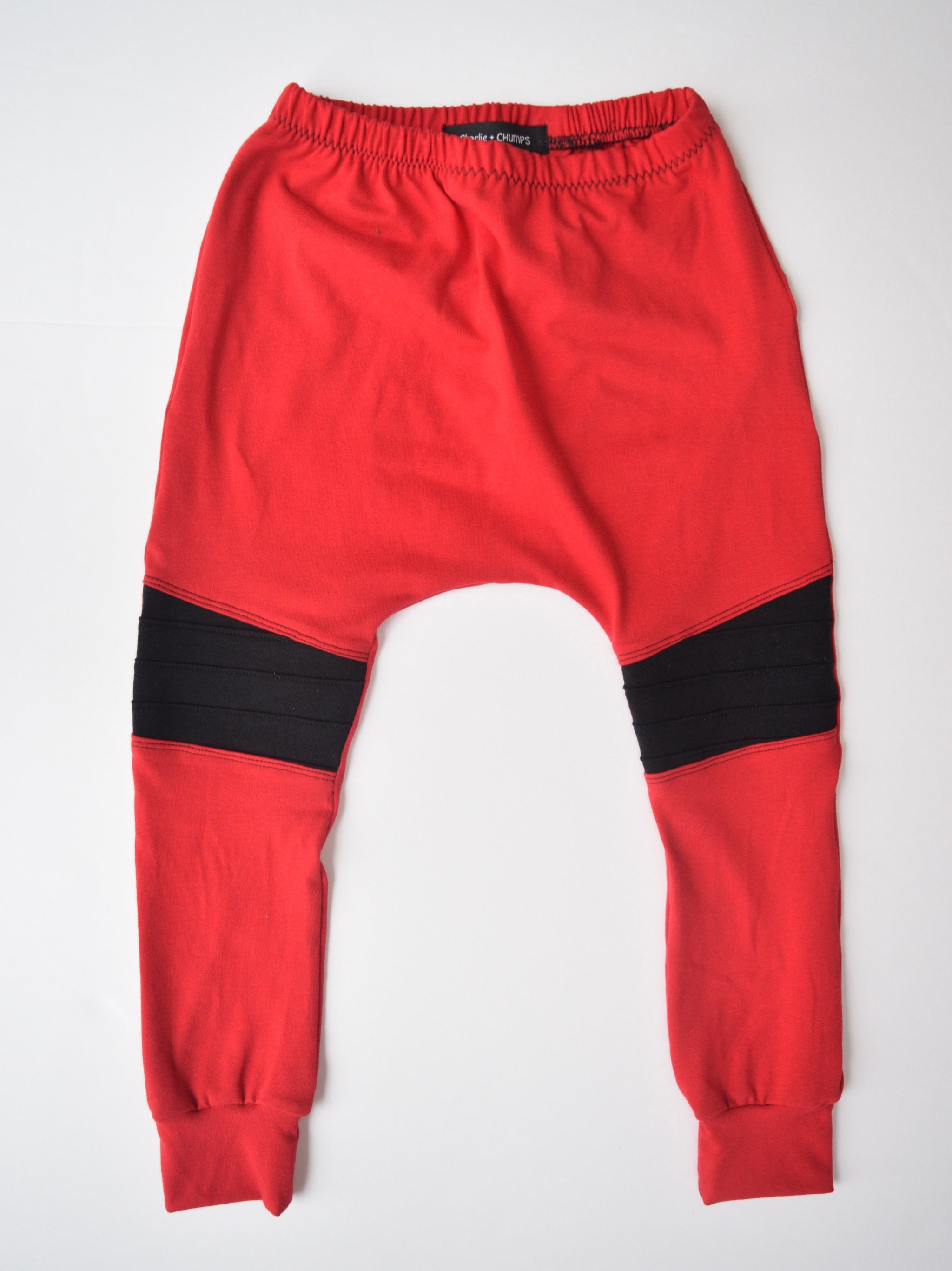 Red Moto Pants
