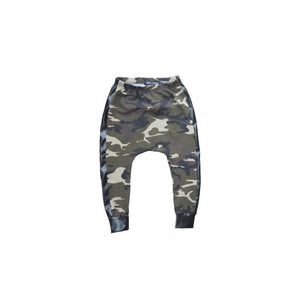 Camo & Leather Stripe Harems