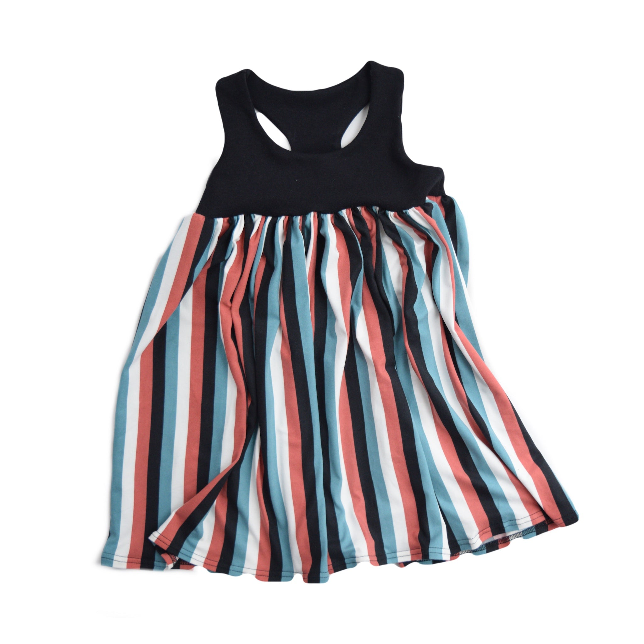 Racer Back Stripe Dress