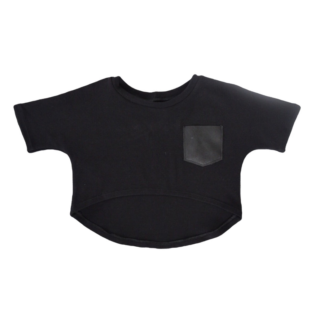 Hi /Lo Crop Top - Black
