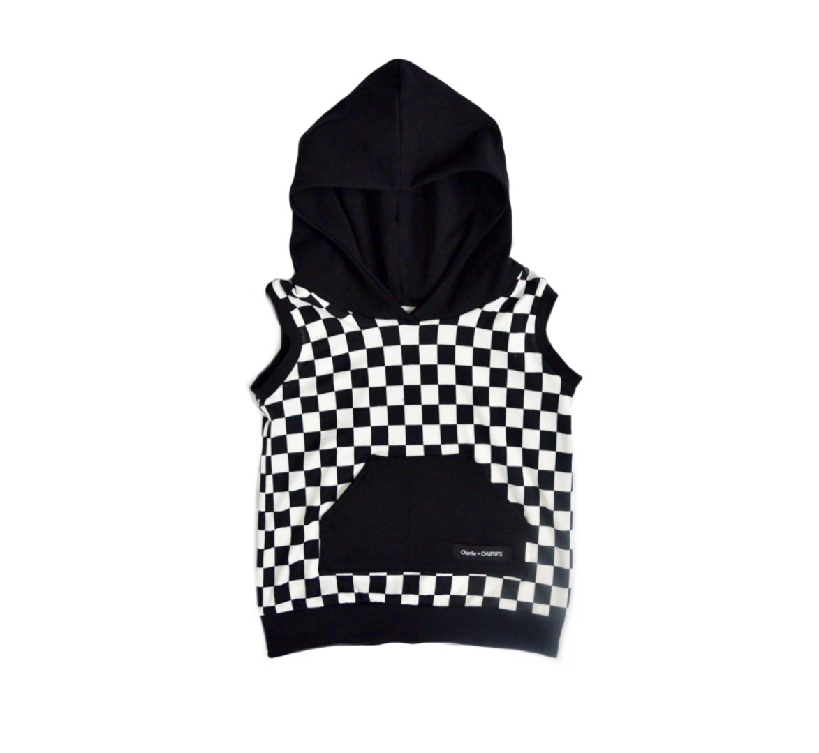 Checkered Hooded Sweatshirt