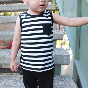Striped Pocket Tank
