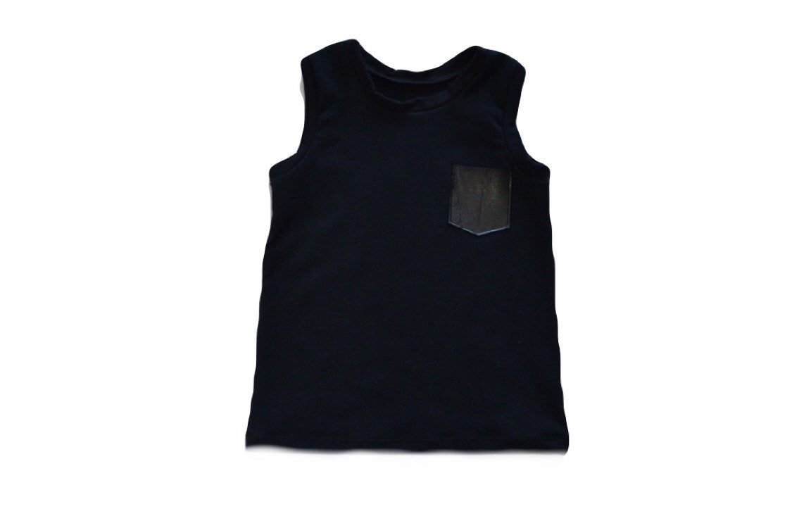 Leather Pocket Tank
