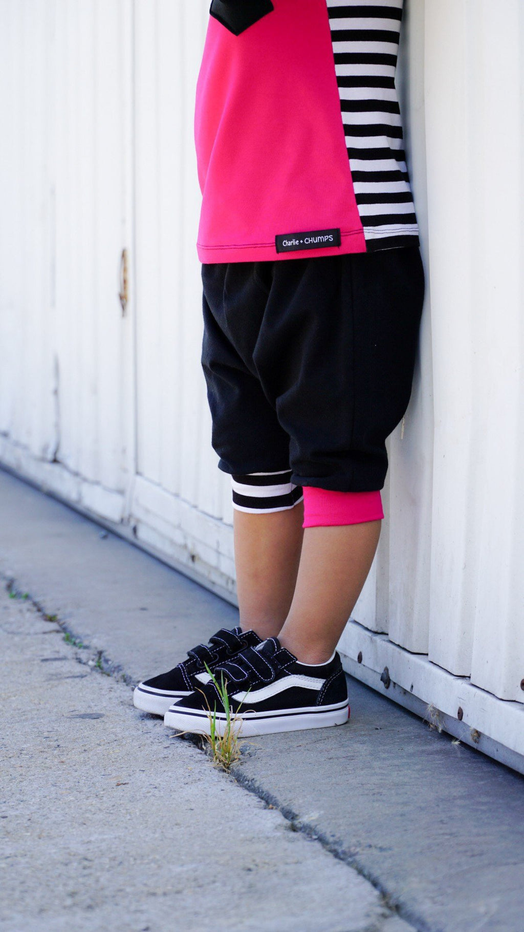 Black/Pink Harem Shorts