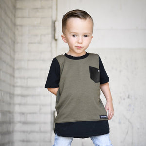 Long Edgy T - Olive