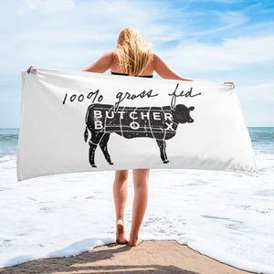 100% Grass Fed - Beach Towel