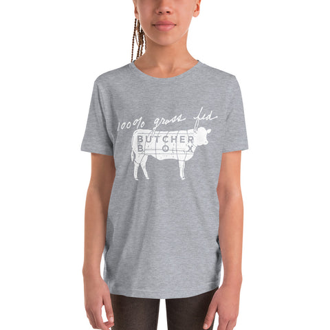 Youth - 100% Grass Fed Short Sleeve T-Shirt