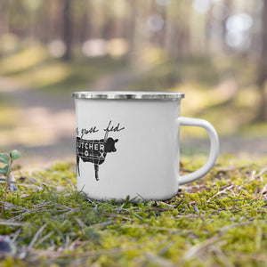 100% Grass-Fed Enamel Mug