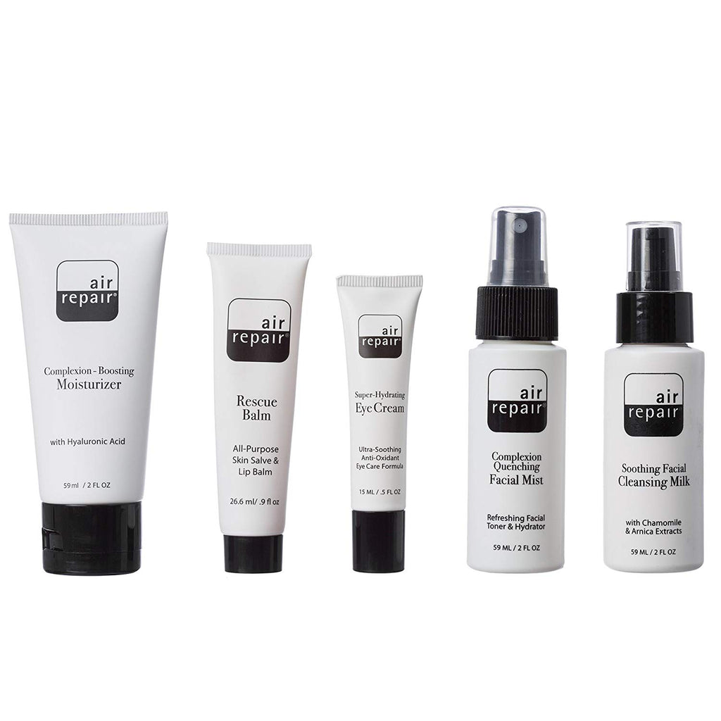 Air Repair Skincare Kit - Complete TSA Approved Skin Care Travel Package
