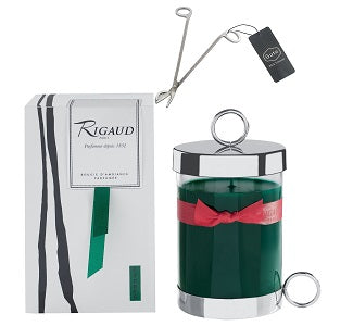 Rigaud Cypres Candle Large Size With Wick Cutter Bundle (Two Piece Bundle)