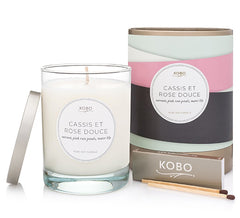 KOBO Ribbon Botanical Candle Cassis et Rose Douc
