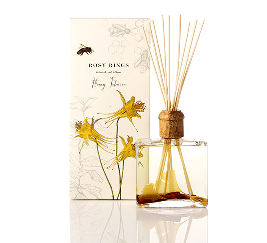 Rosy Rings Botanical Reed Diffuser, Honey Tobacco