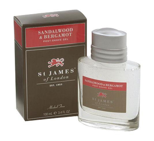 St James of London Sandalwood & Bergamot Post Shave Gel