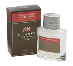 St James of London Sandalwood & Bergamot Post Shave Gel Travel