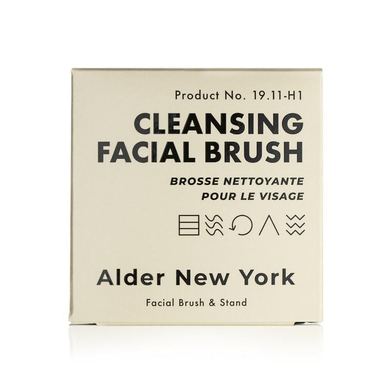 Alder New York Cleansing Facial Brush Gentle Face Massaging Brush & Stand
