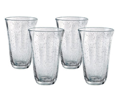 Artland Savannah Clear Bubble Glass 18 Ounce Highball Tumbler, Set of 4