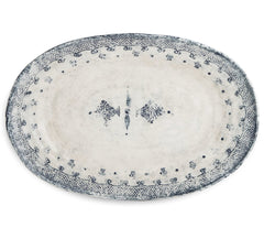 Arte Italica Burano Oval Platter, Large, Blue