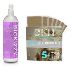 Big Kizzy Release & Reuse Tape Hair Extension Remover & Regular Hold Hair Extension Tape (Bundle)