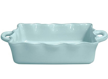 "Casafina Stoneware Ceramic Dish Cook & Host Collection Medium Rectangular Baker Casserole, (Blue) L11""xW8.5"""