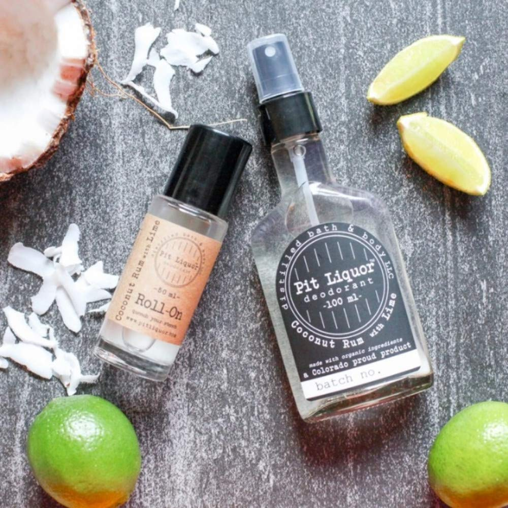 Pit Liquor Spray-On Natural Deodorant 100ml (Coconut Rum With Lime)