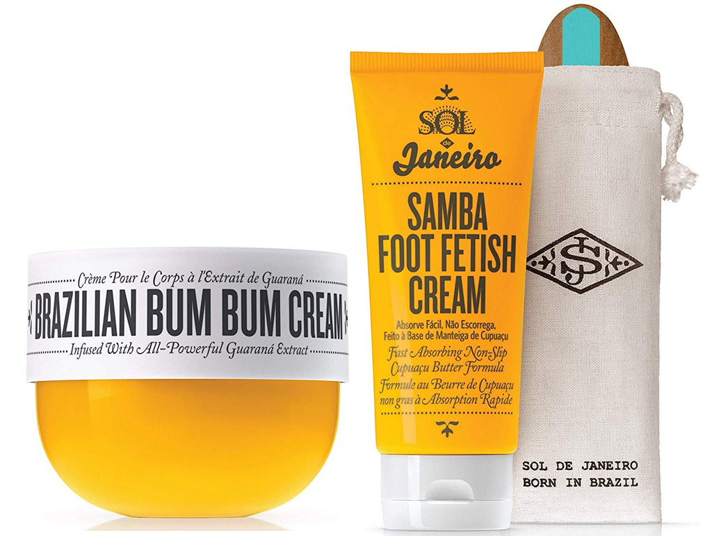 Sol de Janeiro Brazilian Bum Bum Cream 75ml and Samba 2-Step Foot Fetish Care 3 fl oz - (Bundle 2 pack)