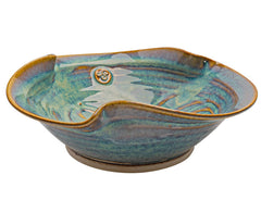 Castle Arch Pottery Newgrange Bowl Hand-Glazed, Handmade In Ireland, With Ancient Celtic Symbol, Irish Gifts 10x3.14 Inches 1000 ML (Large)
