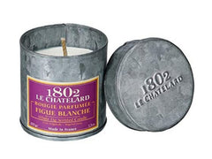 Le Chatelard French Scented Candle in Hand Made Tin, Vintage (White Fig)