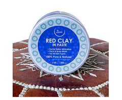 Ziri Skincare Red Clay Mask 7.05 oz Moroccan Red Clay Facial Detox Mask