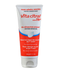 Vita Citral Soin TR+ Soothing Repair Gel - Intense Soothing and Softening Gel for Hands. Take Care of Damaged or Chapped Hands, Reduce Calluses, Helps Repair Skin, Protects and Cleanses (100ml)