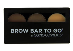 Gerard Cosmetics Brow Bar To Go BLONDE TO BRUNETTE -COMPLETE EASY BROW KIT with brow powders and brow wax for sculpting, contouring and filling in thinning or sparse brows Easy to get bold brows.