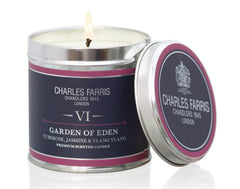 Charles Farris Home scents Candle-Tin-Garden of Eden