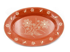 Ceramica Edgar Picas Traditional Portuguese Hand-painted Vintage Clay Terracotta Serving Platter