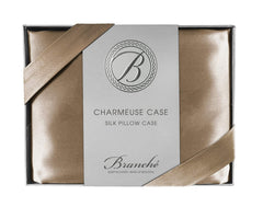 Branché Charmeuse Pillow Case, Toffee, Queen/Standard