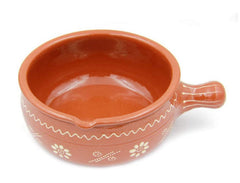 Traditional Portuguese Hand-painted Vintage Clay Terracotta Cooking Casserole Cazuela