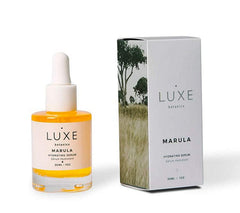 Luxe Botanics Marula Hydrating Serum - Replenishing, Restorative, and Skin Fortifying Concentrate - Marula Oil, Rosehip and Jojoba (1oz)