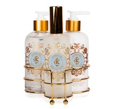 Shelley Kyle Three piece caddy with Lotion, Liquid Hand Soap and Room Atomizer