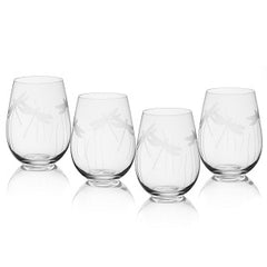 Dragonfly Stemless Wine Glasses