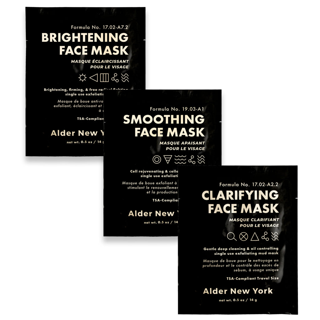 Alder New York Exfoliating Mud Face Mask Trio- 3