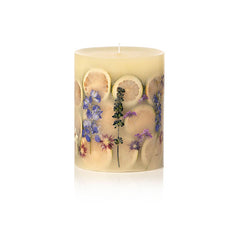 Rosy Rings Small Round Botanical Candle - Wild Plum & Cannabis