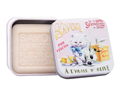 La Savonnerie de Nyons, Soap in A Tin Box Chaton Persan, 100 g